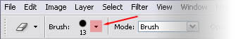Photoshop Brushes Menu Bar