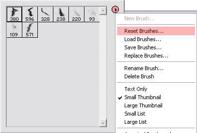 resetting brushes in Photoshop 6